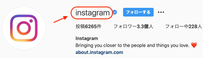 InstagramのID
