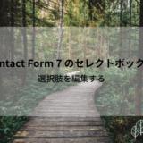 Contact Form 7のセレクトボックス編集方法